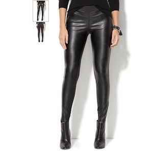 NEW YORK CO Faux Leather High Waisted Legging Pant